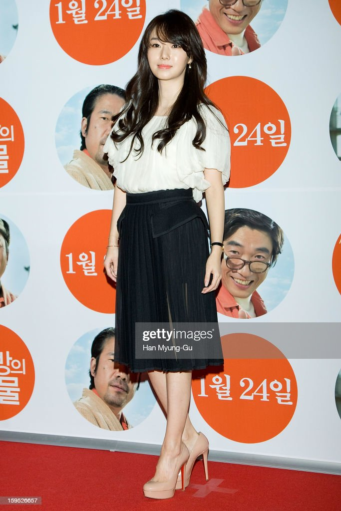 South Korean actress & singer Lee Jung-Hyun attends the 'Miracle In Cell No.7' VIP Screening at Mega Box on January 14, 2013 in Seoul, South Korea.