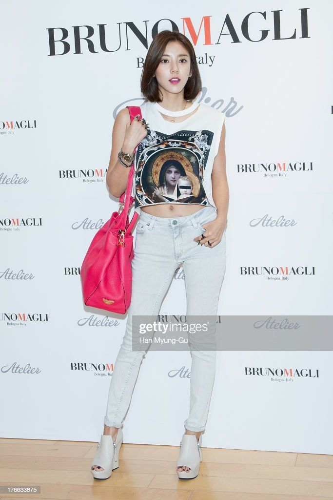 South Korean actress Son Dam-Bi attends during the 'Bruno Magli' atelier store grand opening in Seoul on August 16, 2013 in Seoul, South Korea.
