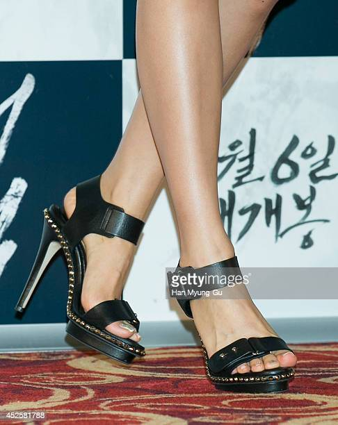 South Korean actress Son YeJin attends the press screening for 'The Pirates' at the Lotte Cinema on July 23 2014 in Seoul South Korea The film will...