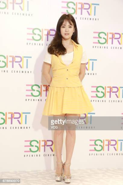 South Korean actress Song Hyekyo attends Esprit store opening ceremony on May 4 2017 in Hong Kong Hong Kong