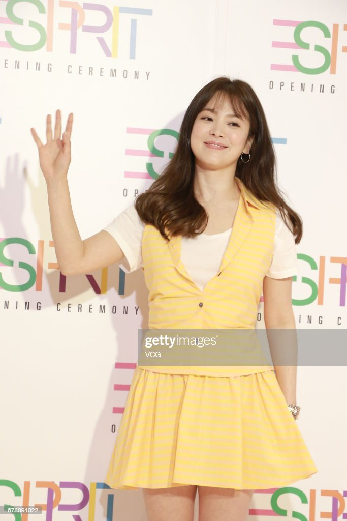 South Korean actress Song Hye-kyo attends Esprit store opening ceremony on May 4, 2017 in Hong Kong, Hong Kong.