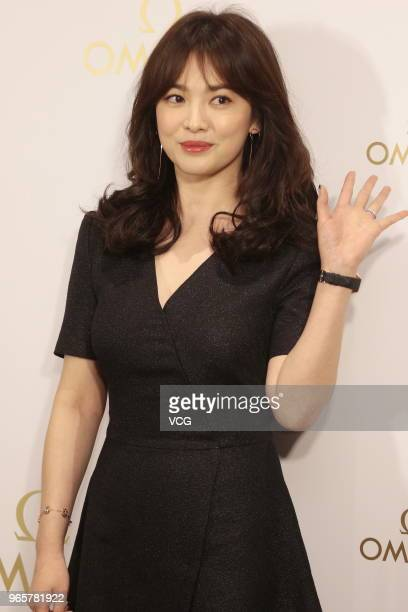 South Korean actress Song Hyekyo attends Omega celebration party on June 1 2018 in Hong Kong China