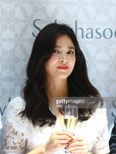 South Korean actress Song Hye-kyo attends Sulwhaso event on July 6, 2019 in Sanya, Hainan Province of China.