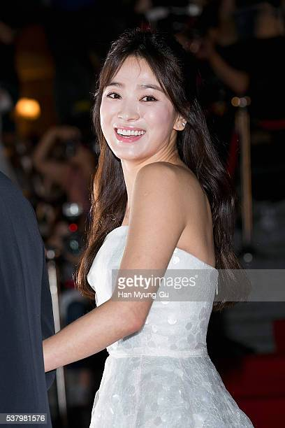 South Korean actress Song HyeKyo attends the 52th Paeksang Arts Awards on June 3 2016 in Seoul South Korea