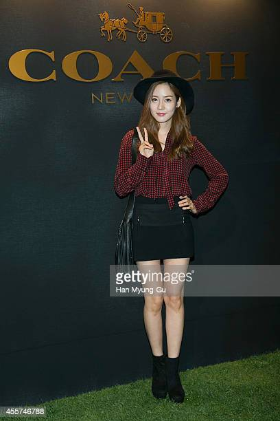 South Korean actress Sung YuRi attends COACH Stuart Vevers collection launch event on September 19 2014 in Seoul South Korea