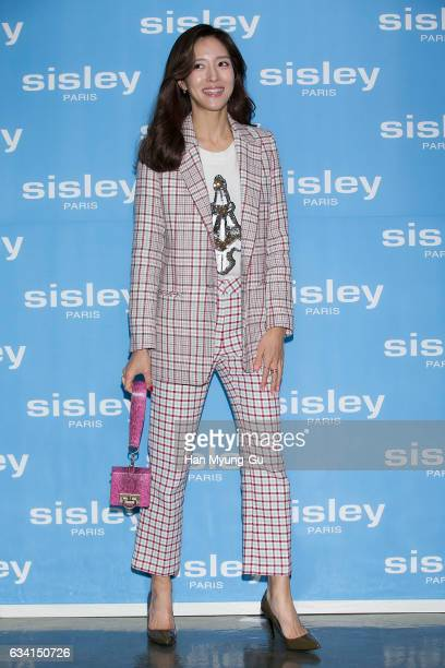 South Korean actress Wang BitNa attends the photocall for Sisley 'PhytoBlanc Brighttening Daily Defense Fluid' launch on February 7 2017 in Seoul...