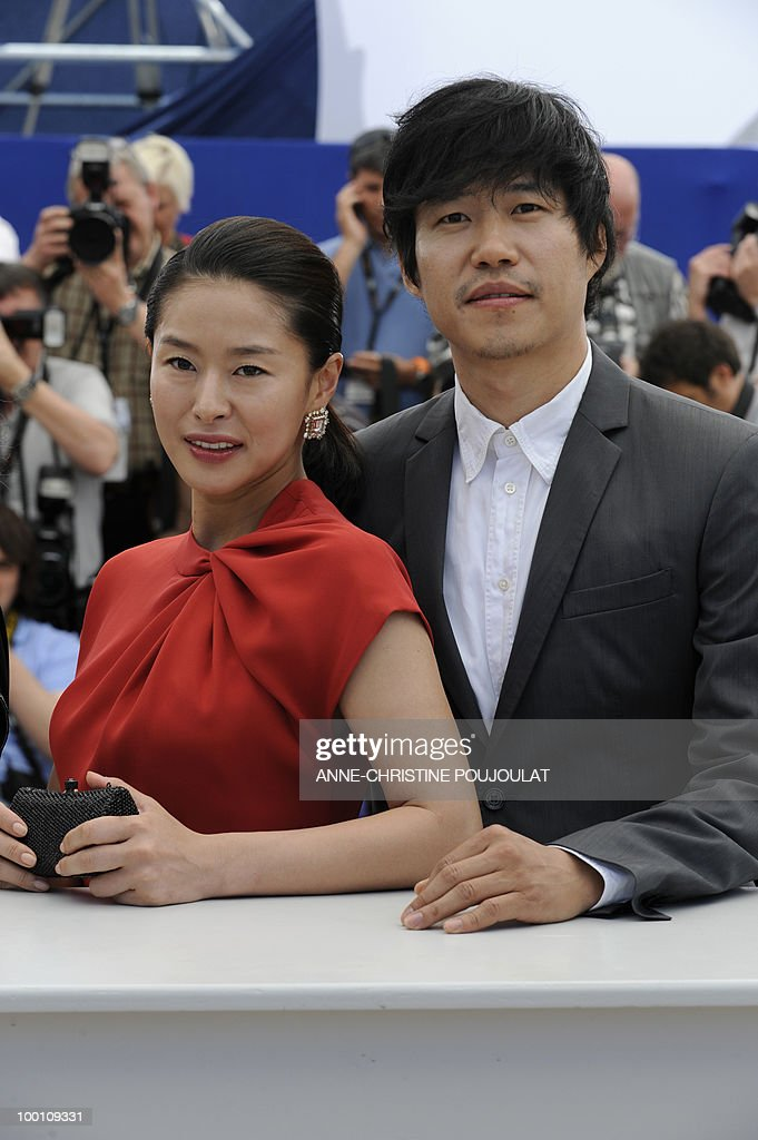 South Korean actress Ye Jiwon and South Korean actor Yu Joonsang pose during the photocall 'Ha Ha Ha' presented in the Un Certain Regard selection at the 63rd Cannes Film Festival on May 21, 2010 in Cannes.