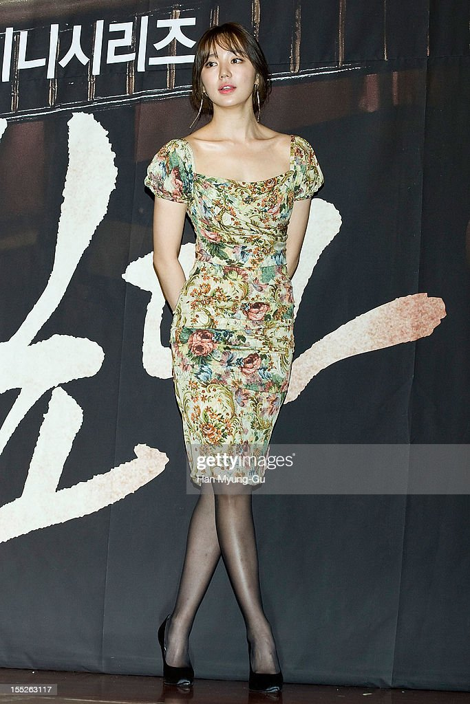 South Korean actress Yoon Eun-Hye attends during a press conference to promote the MBC drama 'Miss You' on November 01, 2012 in Seoul, South Korea. The drama will open on November 07 in South Korea.