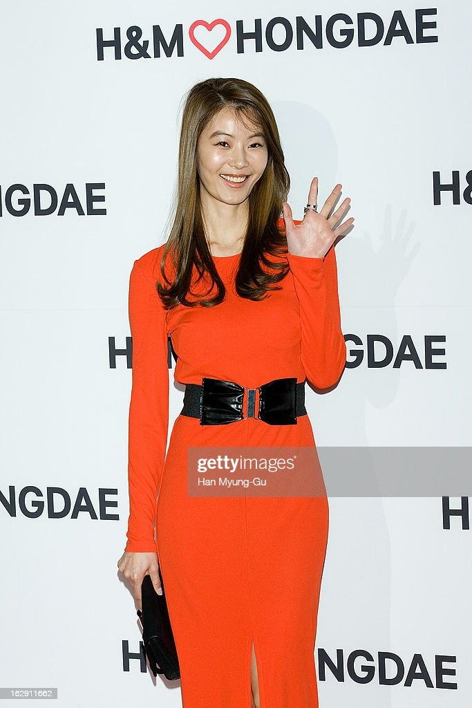 South Korean actress Yoon So-Y (Yun So-Y) attends the H&M (Hennes & Mauritz AB) Hongik University Store Opening on February 28, 2013 in Seoul, South Korea.