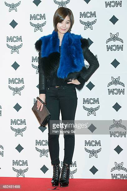 South Korean actress Yoon So-Y attends the MCM S/S 2014 Seoul Fashion Show at Lotte Hotel on November 26, 2013 in Seoul, South Korea.