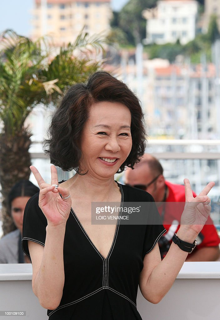 South Korean actress Youn Yuh-jung poses during the photocall 'Ha Ha Ha' presented in the Un Certain Regard selection at the 63rd Cannes Film Festival on May 21, 2010 in Cannes.