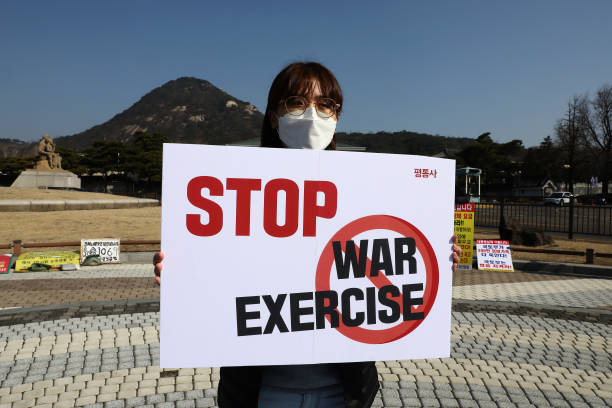 KOR: Protest Against US-South Korea Joint Military Exercise