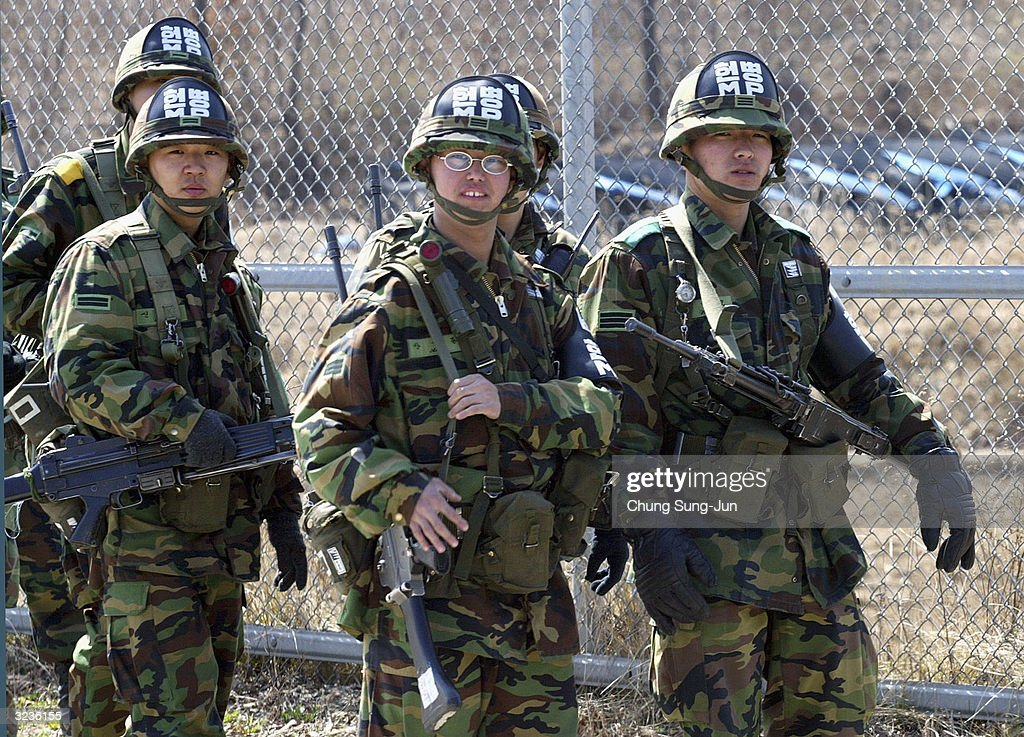 south korean army soldiers patrol the border with the north on april    news photo