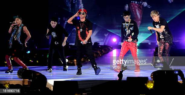 South Korean boy band Big Bang attend the TGC Fashion Event on September 8, 2012 in Shanghai, China.