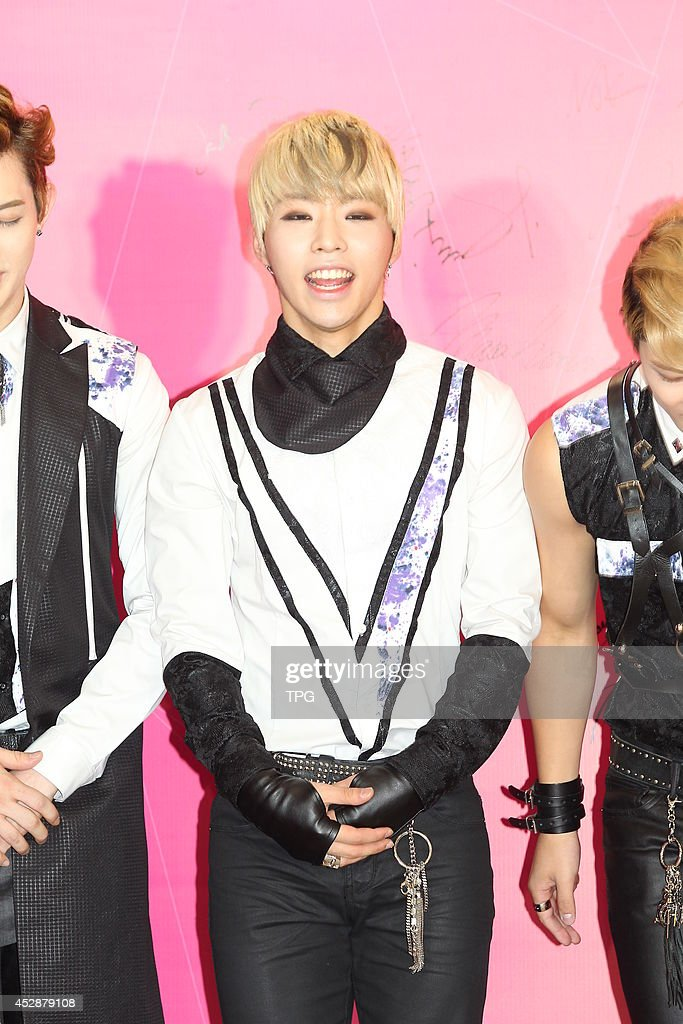 South Korean boy band BTL attend Stargage Entertainment Co., Ltd opening ceremony on Monday July 28,2014 in Hong Kong,China.