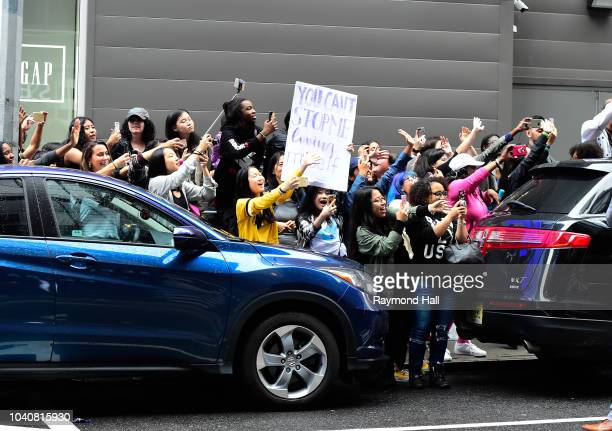 South Korean boy band BTS is seen leaving Good Morning America in time on September 26 2018 in New York City