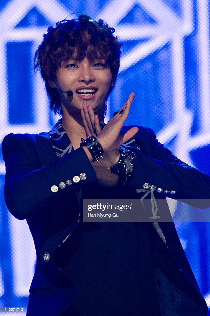 South Korean boy band N of VIXX performs on stage the MBC Music 'Show Champion' at AX Korea on June 19, 2012 in Seoul, South Korea.