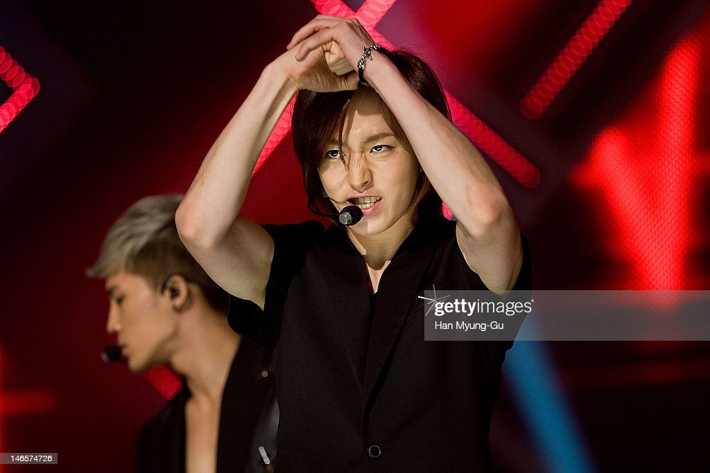 South Korean boy band Young Won of Dalmatian performs on stage the MBC Music 'Show Champion' at AX Korea on June 19, 2012 in Seoul, South Korea.