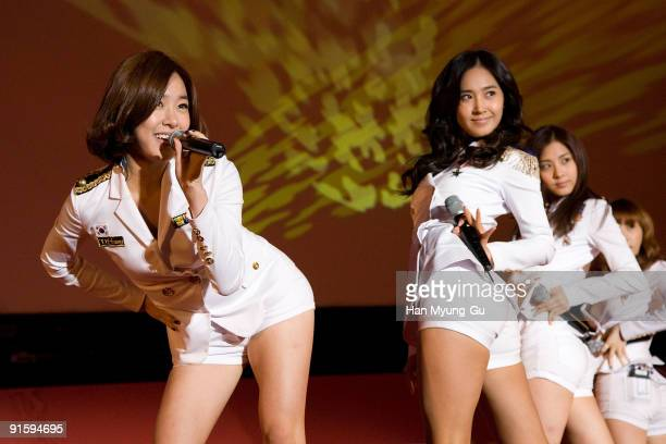 South Korean dance music group, Girl's Generation attends during the opening ceremony of the 14th Pusan International Film Festival on October 8,...