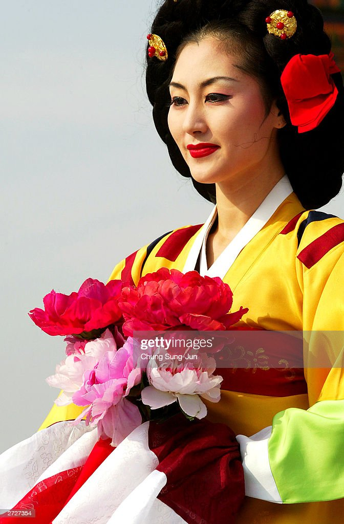 A South Korean dancer performs during a last enthroning