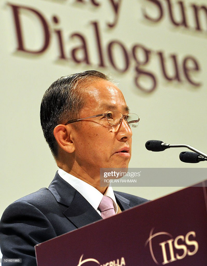 South Korean Defence Minister Kim Tae Young speaks during the Asia-Pacific security forum in Singapore on June 5, 2010. The United States said it was weighing fresh steps to hold North Korea to account over the sinking of a South Korean warship, after Seoul appealed for UN intervention.
