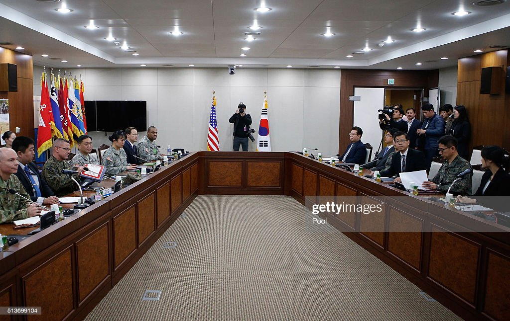S. Korea - U.S. Joint Working Group Hold First Meeting On THAAD Missile Defense System Deployment : News Photo