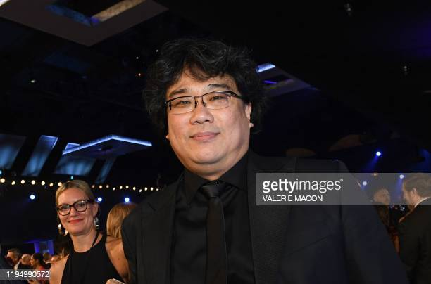 South Korean director Bong Joonho during the 26th Annual Screen Actors Guild Awards show at the Shrine Auditorium in Los Angeles on January 19 2020