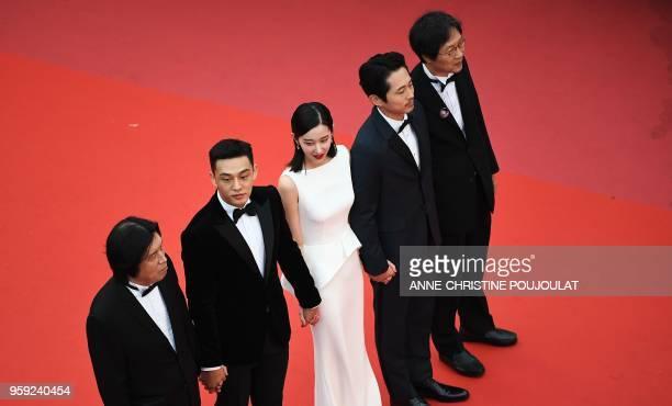 South Korean director Lee ChangDong South Korean actor Yoo Ahin South Korean actress Jun Jong Seo USSouth Korean actor Steven Yeun and South Korean...