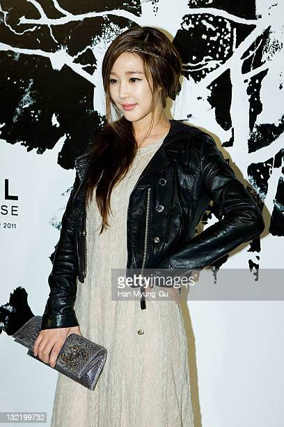 South Korean director Lee SaGan arrives for the 2011/12 Cruse Collection by Chanel at AXKorea on November 10 2011 in Seoul South Korea Models...