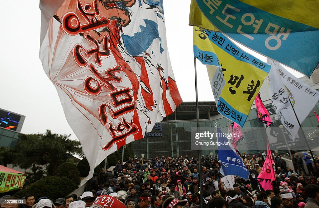 South Korean Farmers Protest Over Usa Free Trade Agreement Photos