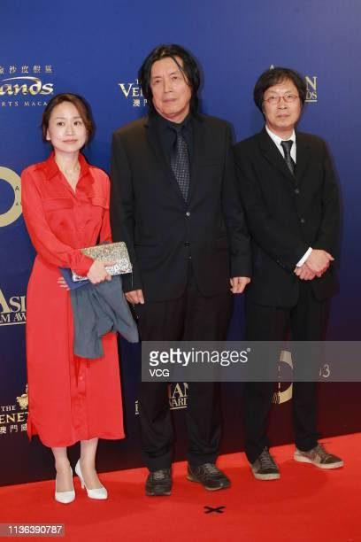 South Korean film director Lee Changdong poses on the red carpet of the 13th Asian Film Awards on March 17 2019 in Hong Kong China