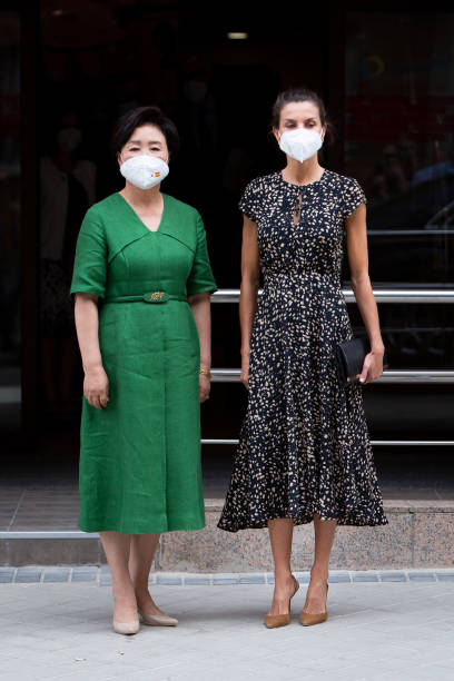 ESP: Queen Letizia Of Spain And Kim Jung-Sook Visit ONCE Foundation