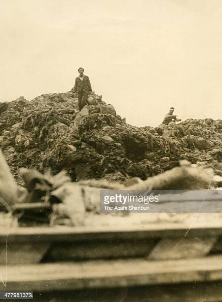 South Korean fishermen dry seaweeds at Dokdo or Takeshima island on May 1 1953 at Sea Both Japan and South Korea have claimed the sovereignty