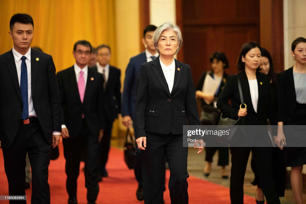 Ninth Japan-China-ROK Trilateral Foreign Ministers Meeting : ニュース写真