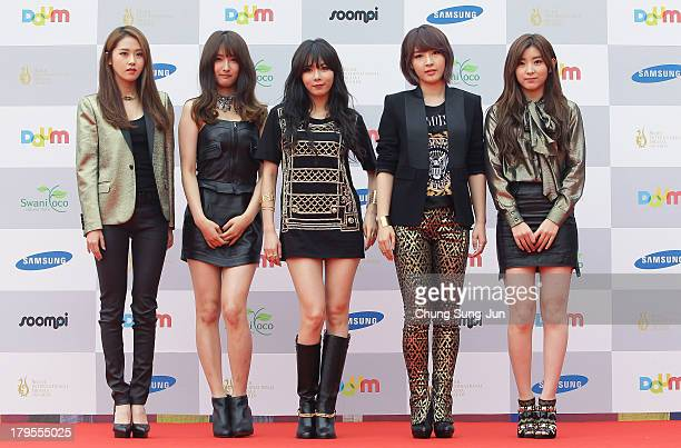 SOuth Korean girl group 4minute arrive at the Seoul International Drama Awards 2013 at national theater on September 5 2013 in Seoul South Korea
