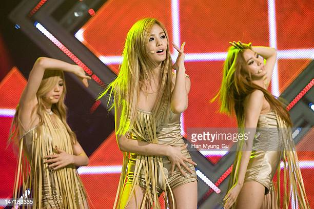 South Korean girl group Nana of After School attends the MBC Music 'Show Champion' at AX Korea on June 26 2012 in Seoul South Korea