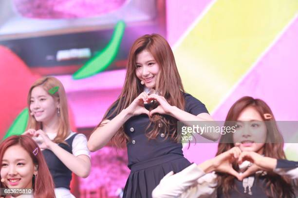 South Korean girl group Twice perform during a showcase of 4th mini album 'Signal' on May 15, 2017 in Seoul, South Korea.