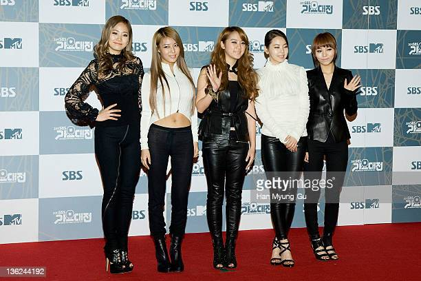 South Korean girl group Wonder Girls attend the 2011 SBS Korea Pop Music Festival at Ilsan Kintex on December 29 2011 in Gyeonggido South Korea