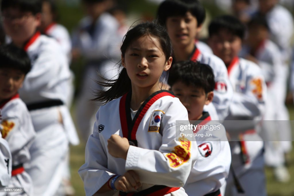 Thousands Gather To Perform Taekwondo