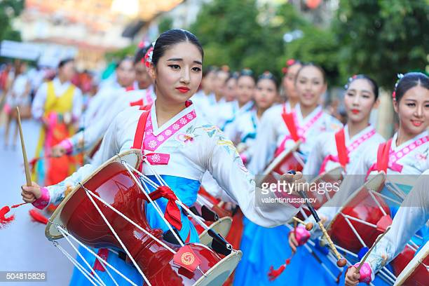 South Korean Group taking part in festival's parade