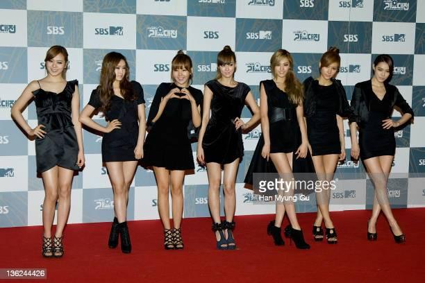 South Korean idol girl group After School attend the 2011 SBS Korea Pop Music Festival at Ilsan Kintex on December 29 2011 in Gyeonggido South Korea