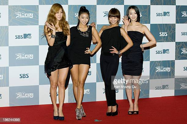 South Korean idol girl group SISTAR attend the 2011 SBS Korea Pop Music Festival at Ilsan Kintex on December 29, 2011 in Gyeonggi-do, South Korea.