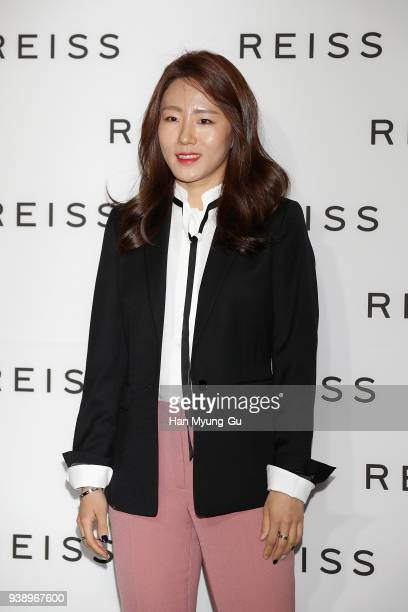 South Korean Lee SangHwa attends the photocall for 'REISS' Korea launch on March 27 2018 in Seoul South Korea