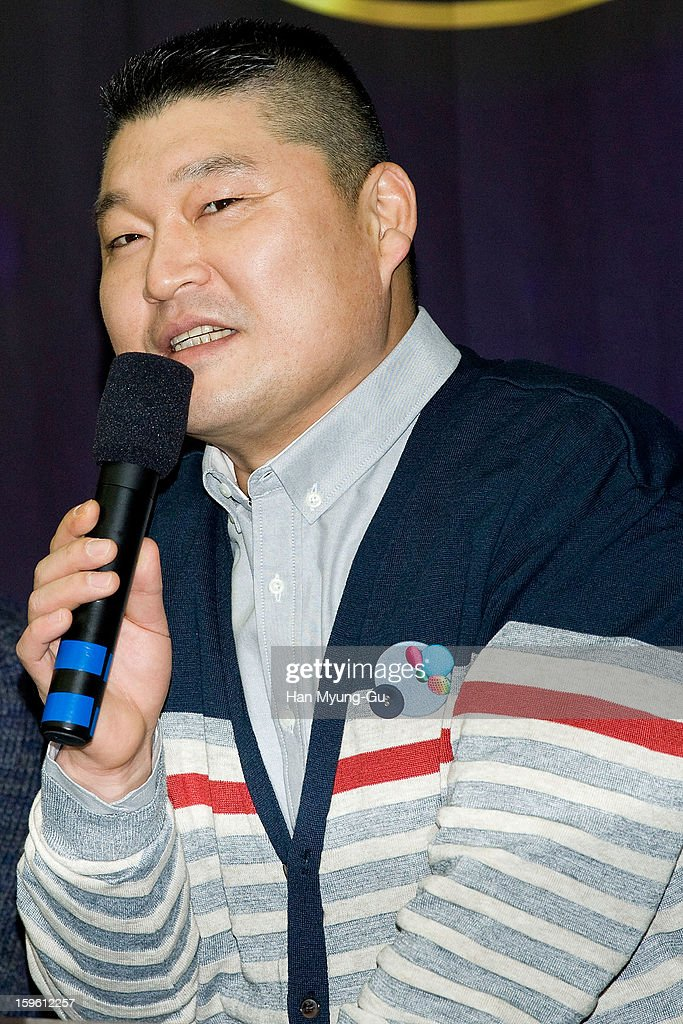 South Korean MC Kang Ho-Dong attends the KBS2 Talk Show 'Moonlight Prince' Press Conference at KBS on January 16, 2013 in Seoul, South Korea. Talk show will open on January 22 in South Korea.