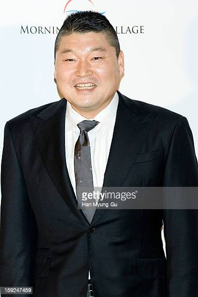 South Korean MC Kang Ho-Dong attends the wedding of Uhm Tae-Woong at Conrad Hotel on January 9, 2013 in Seoul, South Korea.