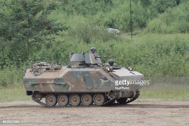 South Korean Military Tanks take part in an exercise near DMZ in Paju South Korea South Korean warships conducted livefire exercises at sea Tuesday...