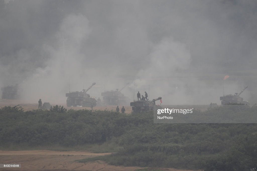 South Korean Military Tanks take part in an exercise near DMZ in Paju, South Korea. North Korea may very well have the ability to kill millions of Americans, without directly firing on U.S. soil. For the first time, the pariah countrys state news agency warned it could hit the U.S. with an electromagnetic pulse (EMP) onslaught, a threat that experts contend is both very real and comes with catastrophic consequences.