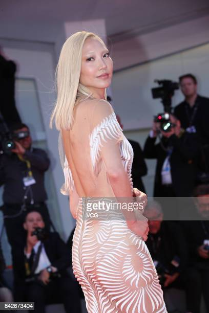South Korean model and actress Soo Joo Park arrives at the red carpet of film 'Three Billboards Outside Ebbing Missouri' screening during the 74th...