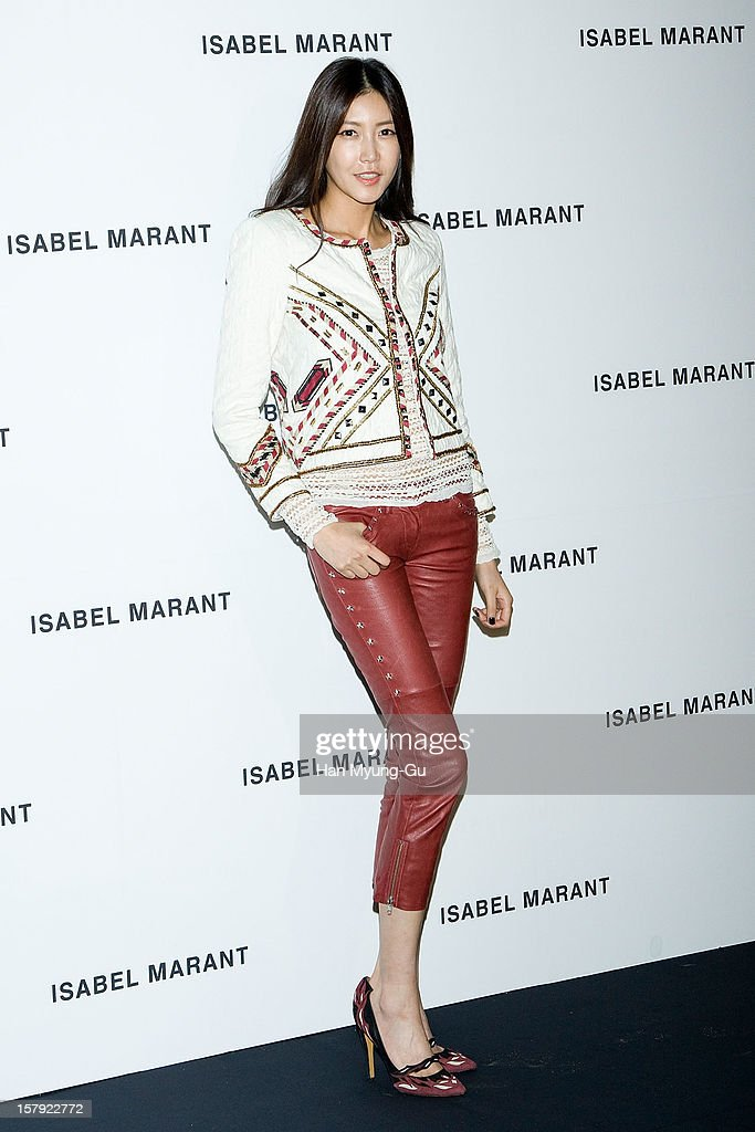 South Korean model attends during a promotional event of the 'Isabel Marant' Flagship Store Opening at Isabel Marant gangnam store on December 6, 2012 in Seoul, South Korea.