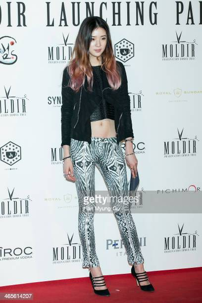 South Korean model Irene attends the Moldir Launching Party on January 24 2014 in Seoul South Korea